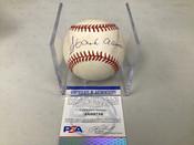 Hank Aaron Atlanta Braves Autographed Baseball PSA COA W/Holder #5283
