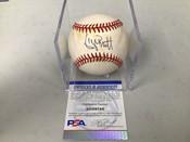 George Brett Royals Autographed Baseball PSA COA W/Holder #5302
