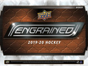 "2019/20 Upper Deck Engrained Hockey Hobby Box ( Text ""UD 19/20 Engrained NHL to 779-707-5200)"
