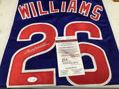 Billy Williams Chicago Cubs Autographed Custom Jersey JSA COA #5353