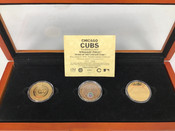 Chicago Cubs Wrigley Field Commemorative 24k Gold Coins W/Case #5354