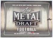 2020 Leaf Metal Draft Football Hobby Jumbo Box