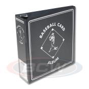 """BCW 3"""" Album - Black Baseball Card Album - 12 Album Case"""