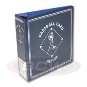 "BCW 3"" Album - Blue Baseball Card Album - 12 Album Case"