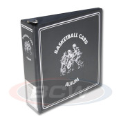 "BCW 3"" Album - Black Basketball Card Album - 12 Album Case"