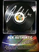 JOAKIM NORDSTROM (Chicago Blackhawks) Autographed Hockey Puck