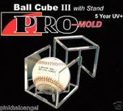 Pro-Mold Baseball Square w/ Pedestal UV Case of 36