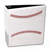 "BCW 3"" Album White Stitched Baseball Card Album - 12 Album Case"