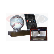 BCW Woodbase Baseball and Card Holder (Real Walnut) Case of 24