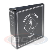 "BCW 3"" Album - Baseball Card Album - Black-Blue-Burgundy"