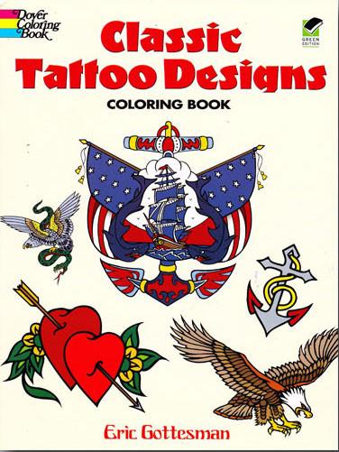 94d71a95b Classic Tattoo Designs Coloring Book - BookMistress