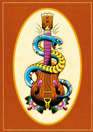 Angelique Houtkamp Greeting Card - Guitar & Serpent