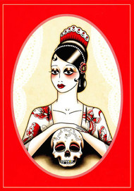 Angelique Houtkamp Greeting Card -  Skull