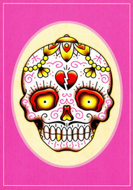 Angelique Houtkamp Greeting Card - Sugar Skull
