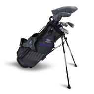 U.S. Kids Right Hand UL54-s 5 Club Stand Set, Grey/Purple Bag
