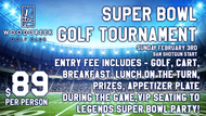 Entry: $89.00 Per Player  Entry Includes: 18 Hole Green Fee & Cart, Range, Awards, Raffle, Breakfast Burrito, Lunch at the Turn, Raffle and Appetizer after golf.  Format: Four Person Scramble  Breakfast: Begins at 7:30am.  Driving Range: Range Balls available at 8:00am.  Lunch at the Turn: Tri-Tip Sandwich  Entry Deadline: Thursday, January 31st, 2019 @ 12:00pm (Paid Entries Only).