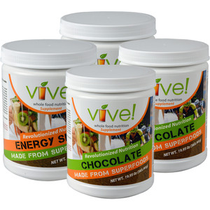 Vive Whole Food Nutritional Supplement One Month Supply - Chocolate & Chai