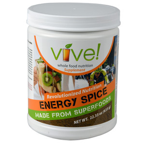 Vive Whole Food Nutritional Supplement Single Canister - Energy Spice (Chai)