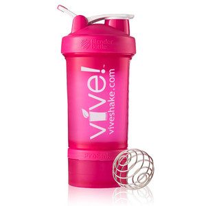 BlenderBottle® Vive Prostak 22oz. Shaker Bottle - Pink & White