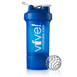 BlenderBottle® Vive Prostak 22oz. Shaker Bottle - Blue & White