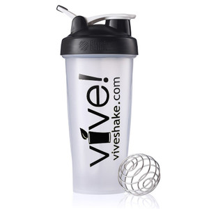BlenderBottle® Vive Classic 28 oz Shaker Bottle - Black & Clear
