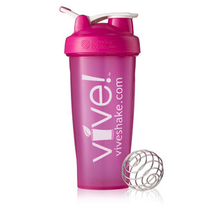 BlenderBottle® Vive Classic 28 oz Shaker Bottle - Pink & White