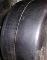 28X10X22 tires Super Solid forklift press-on smooth tire 28/10/22 USA Made 281022