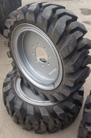 (2- tires with wheels) solid 33x12-20 / 12-16.5 Skid-steer loader tire 331220