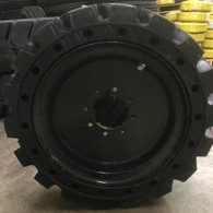 (4- tires with wheels) IST solid 33x12-20 / 12-16.5 Skid-steer loader tire 331220