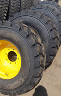(4- Tires with Wheels) John Deere model skid-steer tire size 14-17.5 L5 14175 JD models 280 317 325 326 328 332 240 250 260 270