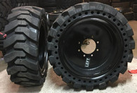 (4- tires with wheels) 33x12-20 / 12-16.5 Solid Skid-steer loader tire 331220