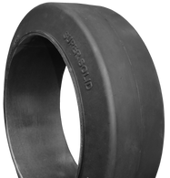 20-1/2x7x17-3/4 tires Super Solid forklift press-on smooth tire 20.5x7x17.75 USA Made