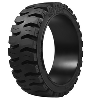 18X5X12-1/8 tires Wide Track solid forklift press-on black traction tire 18512