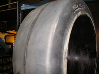 16x7x10-1/2 tires Wide Track solid forklift press-on tire 16x7x10.5 smooth 16710