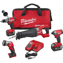 MILWAUKEE 18v 18 volt M18 FUEL™ 4-Tool Combo Kit 2896-24 New