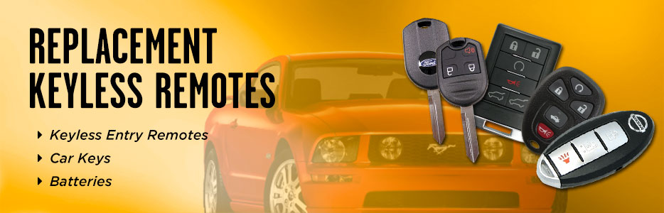 Replacement Car Keys and Keyless Remotes