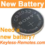 Sony Keyless Remote Lithium Battery CR2025