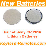 New Batteries for your Keyless Entry Remote