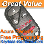 Acura CL and Integra Keyless Entry Remote Refurbished