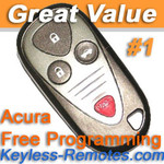 Acura CL TL and RL Keyless Entry Remote Memory #1 Refurbished
