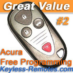 Acura CL TL and RL Keyless Entry Remote Memory #2 Refurbished