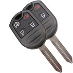 2 Remote Head Keyless Entry Remote Key Fob for Ford 4 Button with trunk.