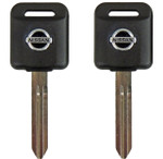 2 Transponder Chip Key Blanks For Nissan and Infiniti  4D60