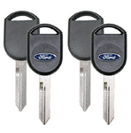 80-Bit 4D63 Chip Key Blank For Ford Cars and Trucks (2 Pack)