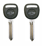 Circle Plus Transponder Chip Key for Chevrolet with logo (2 Pack)