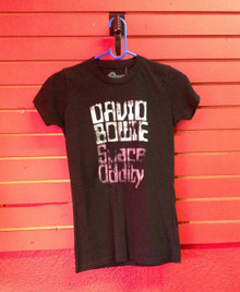 David Bowie Space Oddity T-Shirt in Black - Girls Cut