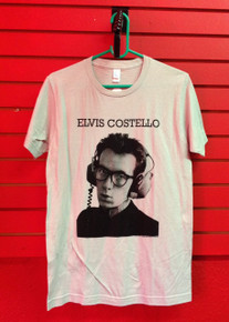 Elvis Costello Headphones T-Shirt in Grey