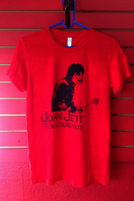 Joan Jett and the Blackhearts T-Shirt in Red - Size Youth Large