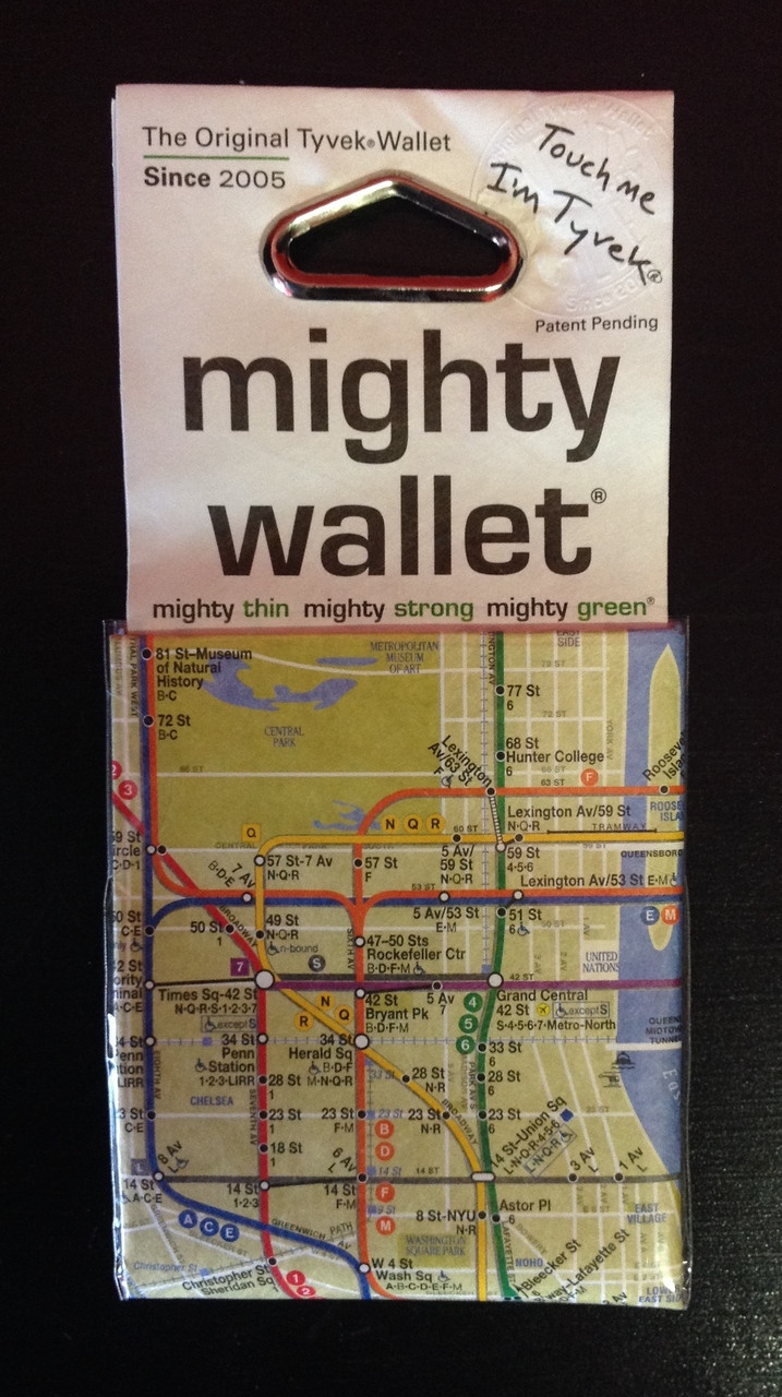 Nyc Subway Map On Business Card.Mighty Wallet Nyc Subway Map Print