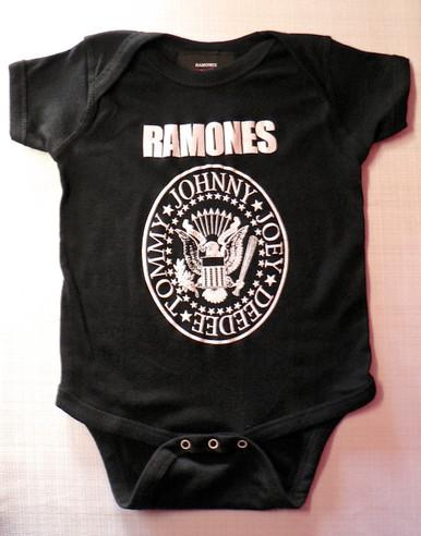 Ramones Logo Onesie in Black